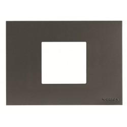 Marco 2 módulos Blanco Caja americana N2472.1 BL Niessen Zenit