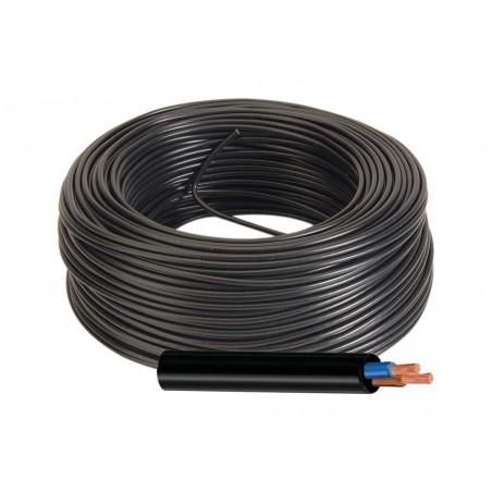 Manguera Eléctrica Negra Cable Flexible 2x1 H05VV-F 500V