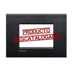 Placa Rectangular 3 Módulos Negro Lava LNC4803NL Livinglight AIR
