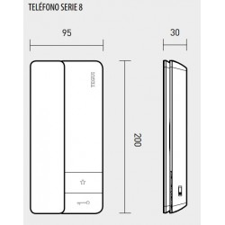 Teléfono Portero Tegui 2 Hilos Serie 8 Legrand