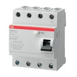 Interruptor Diferencial FH204AC-63/0,3 4 Polos 63A AC ABB 300mA
