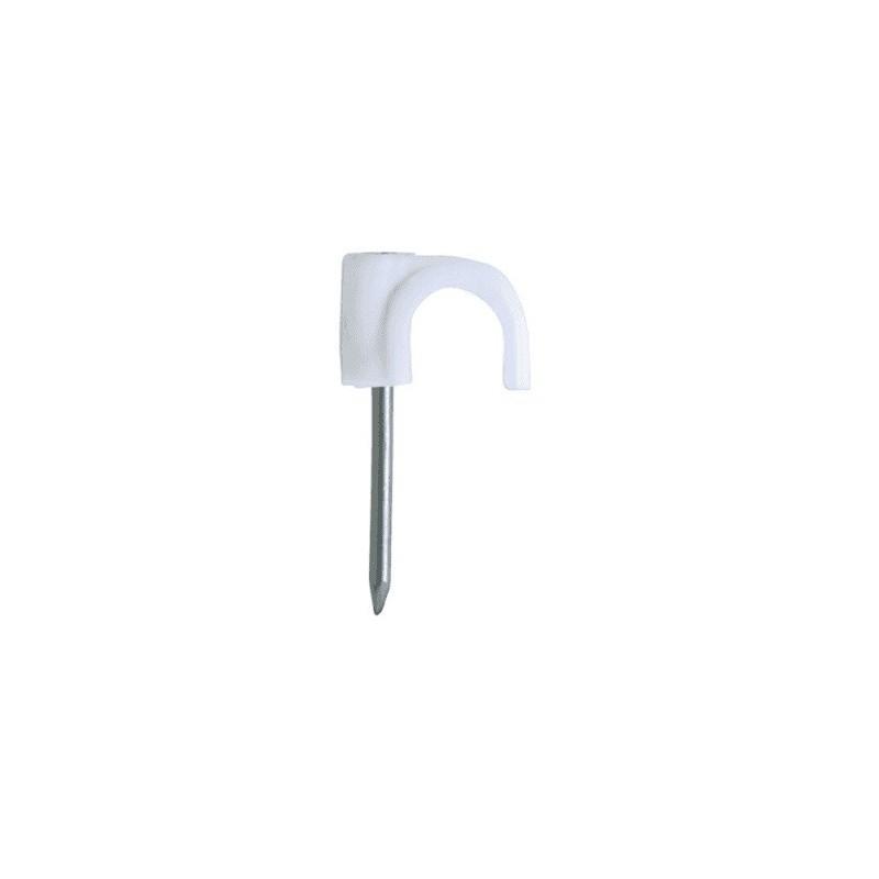 Grapa de Fijación Blanca 7mm2 de Plástico para Cables/Mangueras RN-7