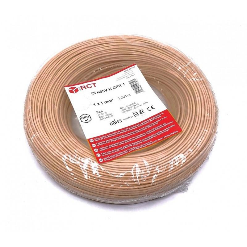 Cable unipolar flexible H05V-K1MA 1 mm² Marrón 200 Metros