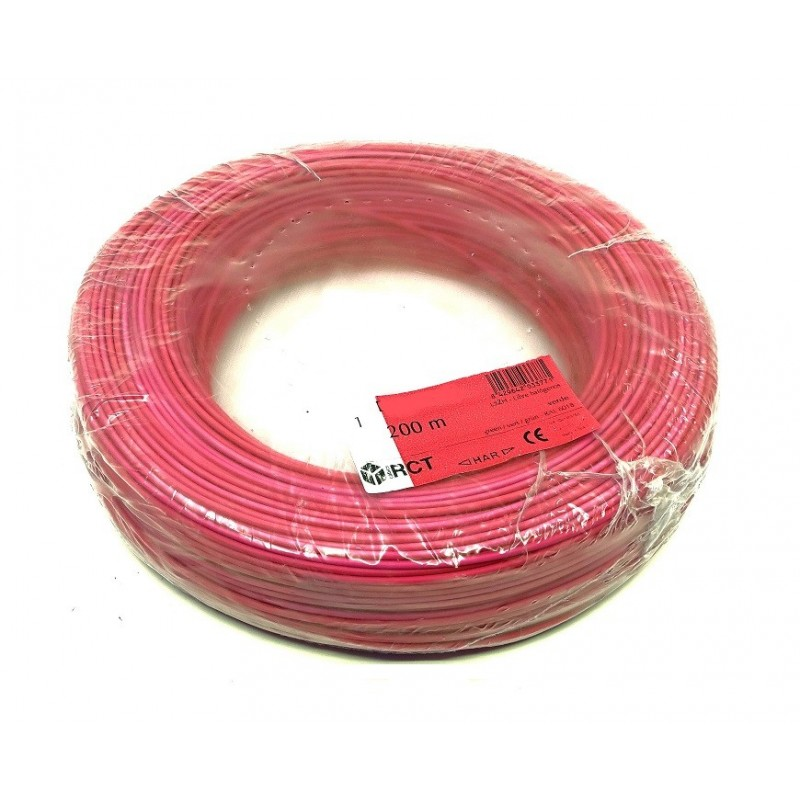 Cable unipolar flexible Rojo H05V-K1RO 1 mm² 200 Metros