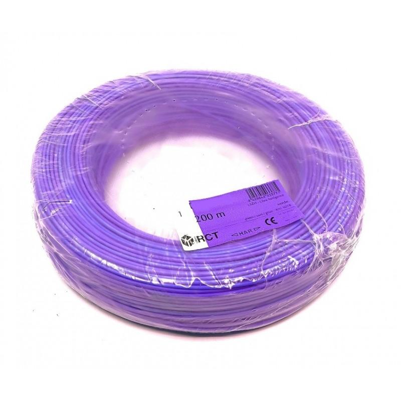 Cable eléctrico unipolar 1 mm² Morado H05V-K1MO 200 Metros