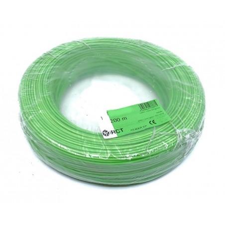Cable unipolar flexible 1 mm² Verde H05V-K1VE 200 Metros
