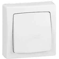 Pulsador 6A Superficie 086006 Legrand Oteo Blanco