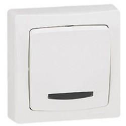 Conmutador Luminoso 10A Blanco Legrand Oteo 086017