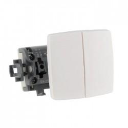 Doble Conmutador Componible 10A 086120 Legrand Oteo Blanco