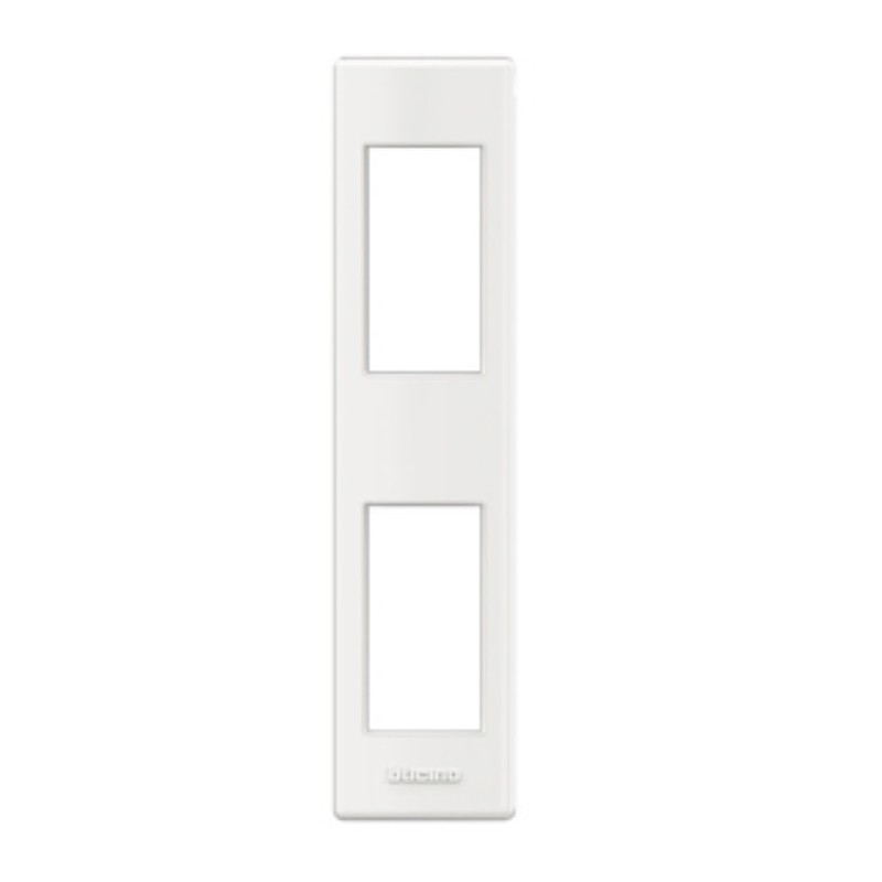 Placa para Perfilería 1+1 Módulo  Blanco LND4812BI BTicino Livinglight