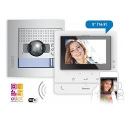 Kit Videoportero Empotrar Wifi Color Clase 100X16E Tegui 2 Hilos 379116