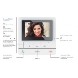 Kit Videoportero Empotrar Color Clase 100V16E Tegui 2 Hilos 379112