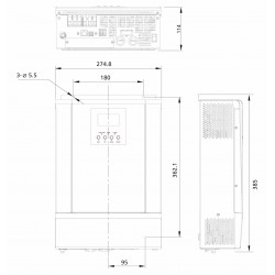 Inversor/cargador Steca Solarix PLI 2400-24 3000VA 24V