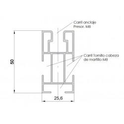Perfil SUNFER Estructura Solar G1 2100 mm