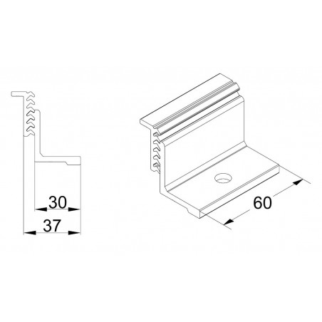 Presor Lateral para Placas Solares SUNFER S10