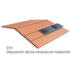 Soporte coplanar atornillado - anclaje a hormigón y/o madera - horizontal