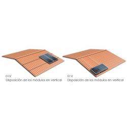 Soporte coplanar atornillado - anclaje a hormigón y/o madera - vertical