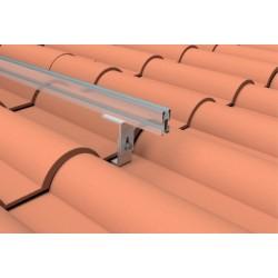 Soporte coplanar con salvateja para cubierta de teja