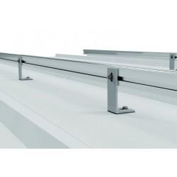 Soporte coplanar con fijación a correas para cubierta metálica - vertical
