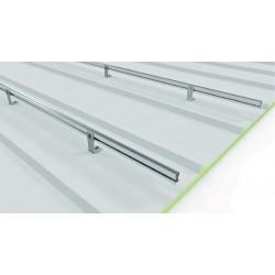 Soporte coplanar con fijación a correas para cubierta metálica - horizontal