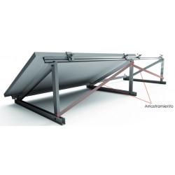 Soporte inclinado para cubierta metálica 15º/30º - horizontal