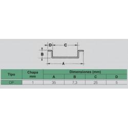 Perfil Simétrico Perforado OP Legrand