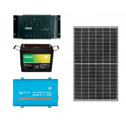 Kit solar aislada - 800W - Demanda: 1000Wh/día
