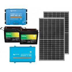 Kit solar aislada - 800W - Demanda: 1200Wh/día