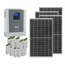 Kit solar aislada - 2400W - Demanda: 3000Wh/día