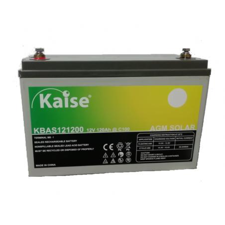 Batería monoblock - Kaise AGM solar 12V - 120Ah (C100)