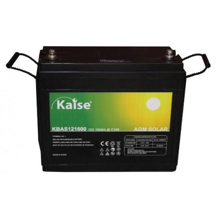 Batería monoblock - Kaise AGM solar 12V - 160Ah (C100)
