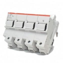 Base Portafusible E93N/50 50A 3P+N  ABB