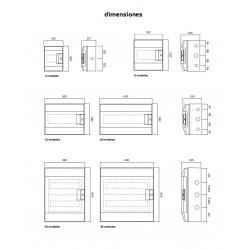 Caja de Distribución Superficie 54 Módulos IP65 Superficie ABB 1SL1208A00