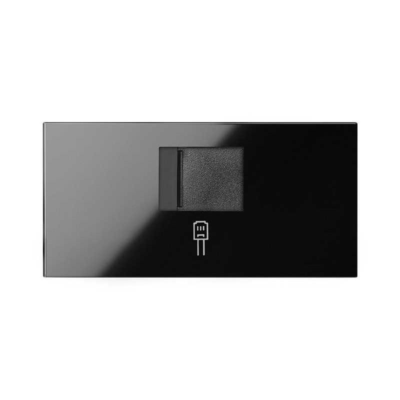 Tapa para Conector RJ45 Simon 100 Negro 10000005-138