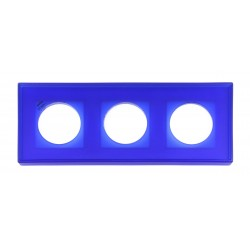 Marco 3 Elementos Cristal Azul Reflex 37-803-07-2 Fontini F-37