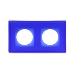 Marco 2 Elementos Cristal Azul Reflex 37-802-07-2 Fontini F-37