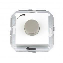 Regulador-Conmutador 500W Blanco y Acero Inoxidable 37-332-25-2 Fontini F-37