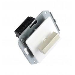 Doble Interruptor 10AX - 250V Lazo de Acero Inoxidable 37-300-25-2 Fontini F-37