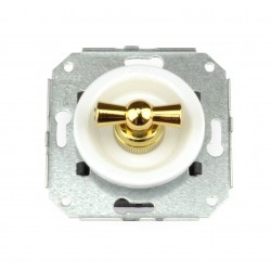 Interruptor Bipolar 10AX - 250V Blanco Lazo dorado 35-314-30-2 Fontini Venezia