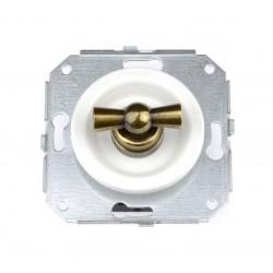 Interruptor Unipolar 10AX - 250V Blanco Lazo patiné 35-306-59-2 Fontini Venezia