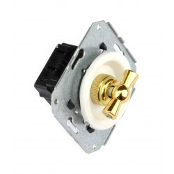 Interruptor Unipolar 10AX - 250V Blanco Lazo dorado 35-306-30-2 Fontini Venezia