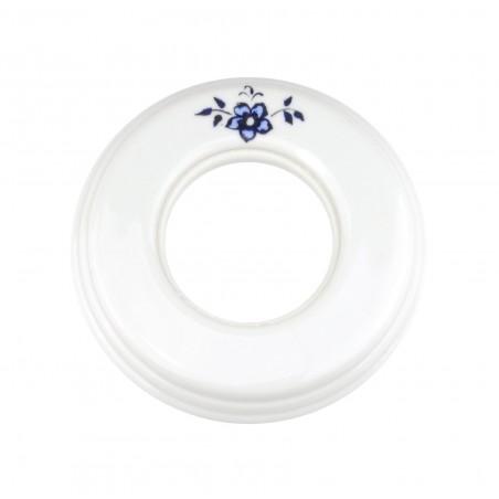Marco 1 Elemento Porcelana Decorado Azul 31-801-11-2 Fontini Garby Colonial
