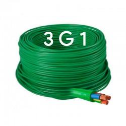 Manguera cable flexible 3x1 Libre de halógenos RZ1-K 500V.