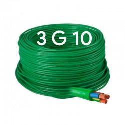 Manguera Eléctrica Flexible Verde Libre de Halógenos 3x10 RZ1-K 1000V