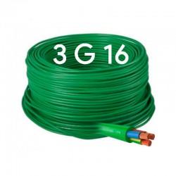 Manguera eléctrica Flexible 3x16 Libre de Halógenos RZ1-K