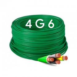 Manguera Eléctrica Flexible Verde Libre de Halógenos 4x6 RZ1-K 1Kv.