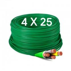 Manguera flexible 4x25 mm Libre de Halógenos 1000v. RZ1-K