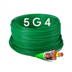 Manguera Eléctrica Flexible Verde Libre de Halógenos 5x4 RZ1-K 1000V