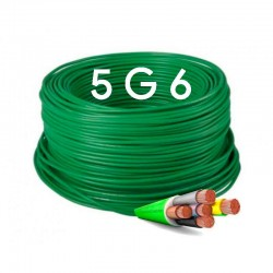 Manguera Eléctrica Flexible Verde Libre de Halógenos 5x6 RZ1-K 1Kv