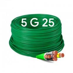 Manguera eléctrica flexible Libre halógenos 5x25 RZ1-K 1000V.